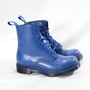 Rare DR. MARTENS PASCAL All Blue 8-eye Boots